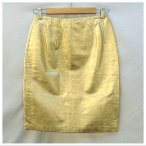 Amazing 80s Vintage Gold Holiday Skirt